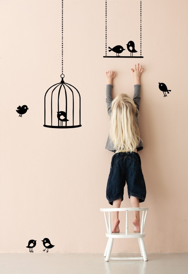 KIDS_Wallstickers_Tweeting_birds_black