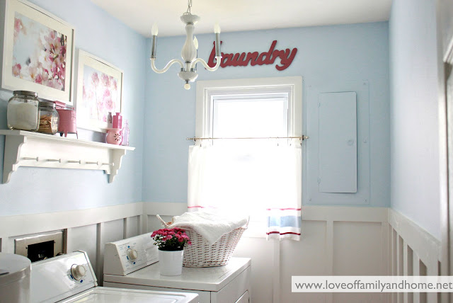 Blue & Pink Laundry Room Makeover 004 edited