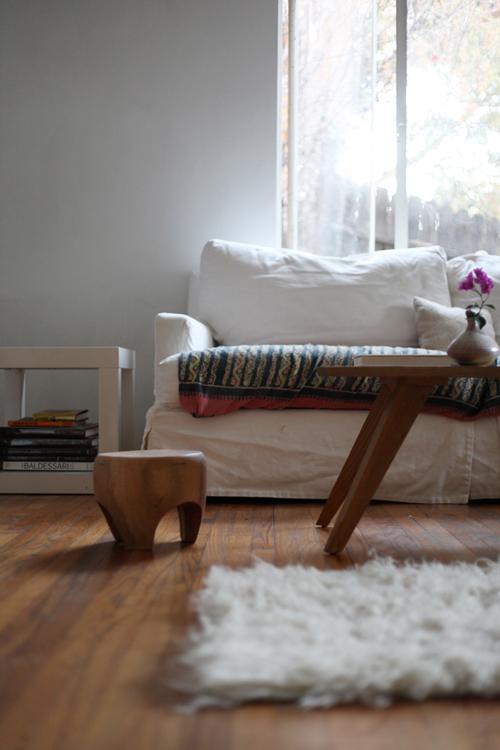 detalle de la zona de estar / detail in the living room