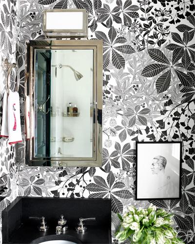 estampado espectacular en el baño / stunning pattern in the bathroom