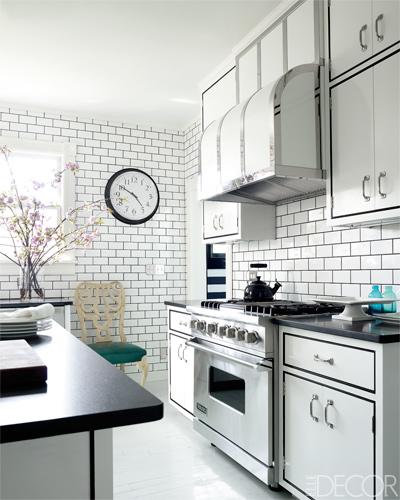 cocina en blanco y negro / black and white kitchen