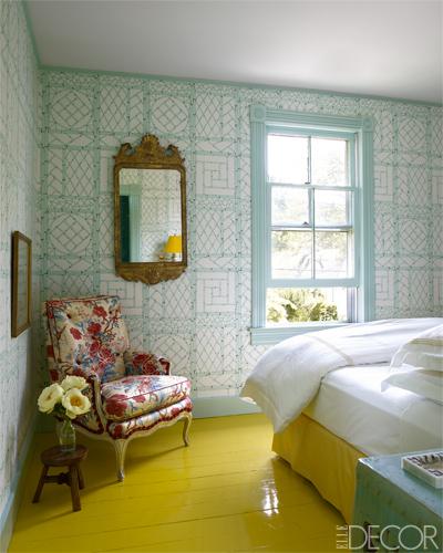 preciosa habitación en amarillos y azules / beautiful room in blue and yellow