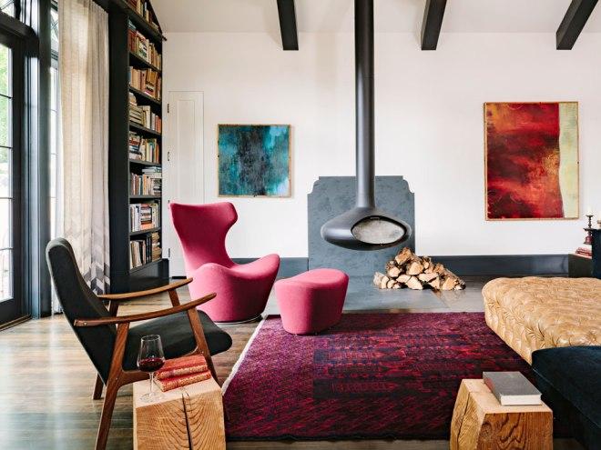 un rincón del estar / a corner of the living room