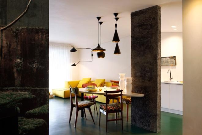 Serge Mouille de pared junto con 4 lámparas de Tom Dixon
