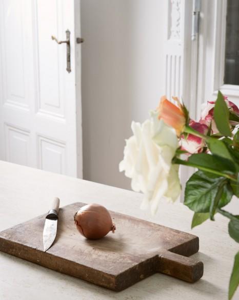 Detalle del mármol de la cocina