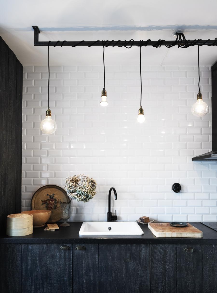 Una casa estilo industrial con alma - Iluminacion estilo industrial ...
