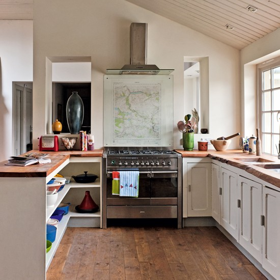 Vista del interior de  la cocina.
