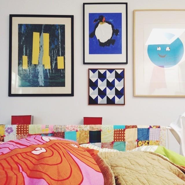 Preciosa y alegre combinación de colores e imágenes.