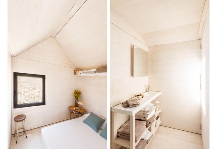 Vista del baño y del dormitorio.