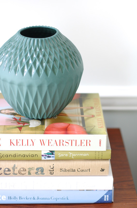 Precioso jarrón azul turquesa.