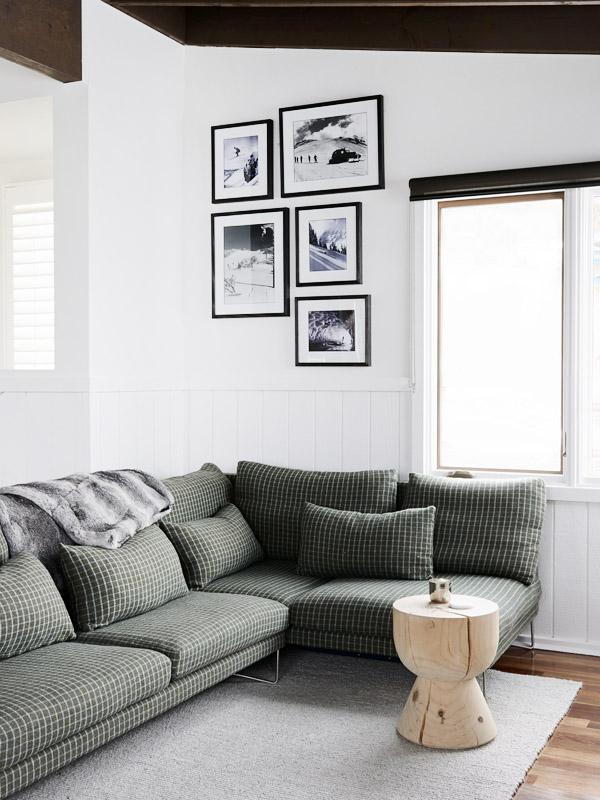 Zona de estar con tapizado que nos recuerda a épocas frías.