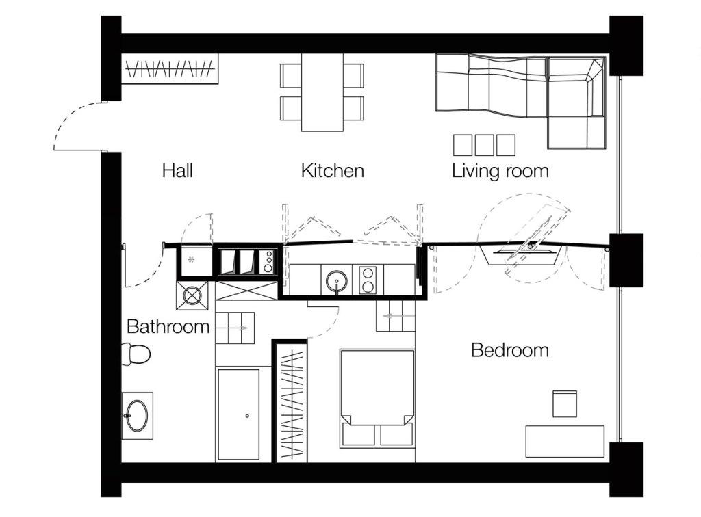 Plano de distribución de la vivienda.