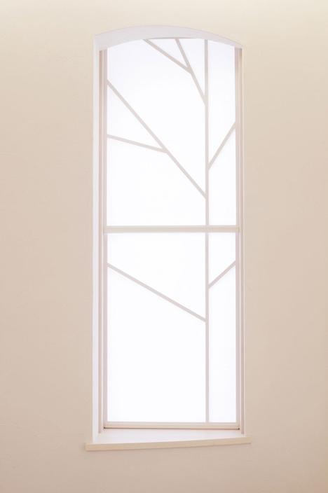 El despiece de la ventana es como las hojas del cerezo.